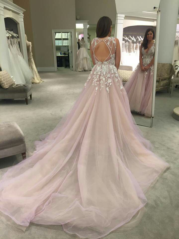 Romantic New Arrival Sexy Wedding Dress lace Bridal Gowns tulle ball ...