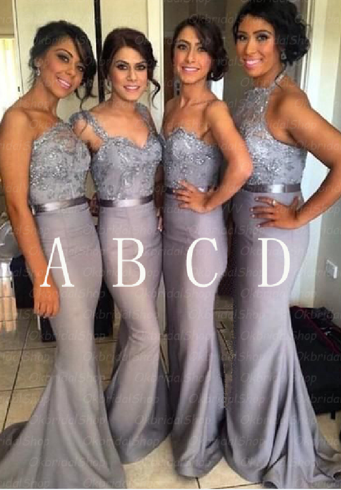 Silver Bridesmaid Dresses Grey Bridesmaid Dresses