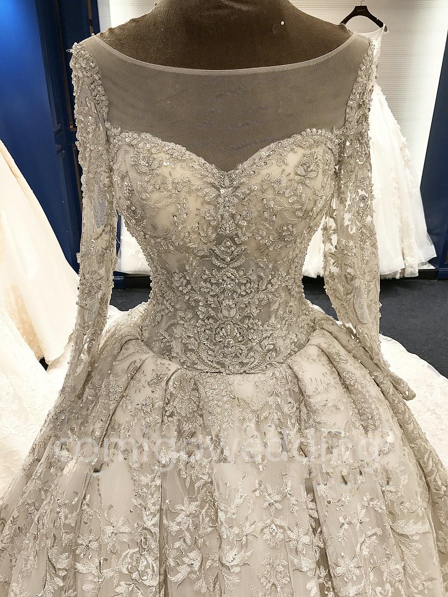 Big Long Train Luxury Real Photos Wedding Dresses Amanda Novias White Gowns Bridal