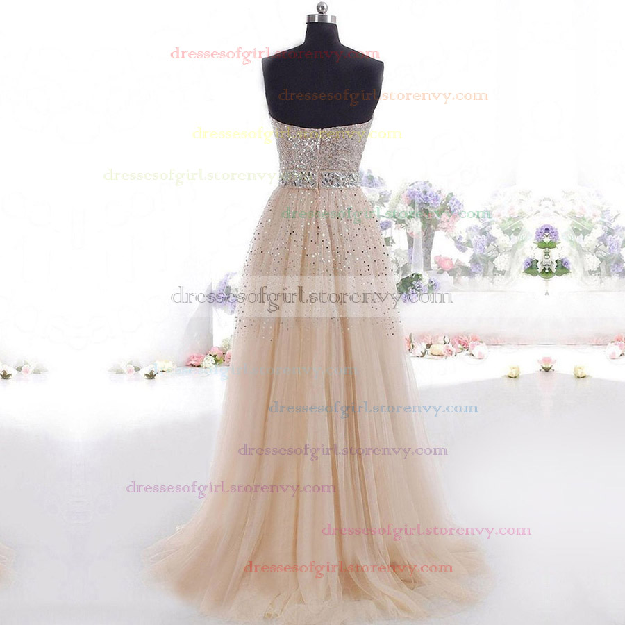 Long Prom Dresses, Princess Tulle Sweetheart Evening Dresses, Pretty ...