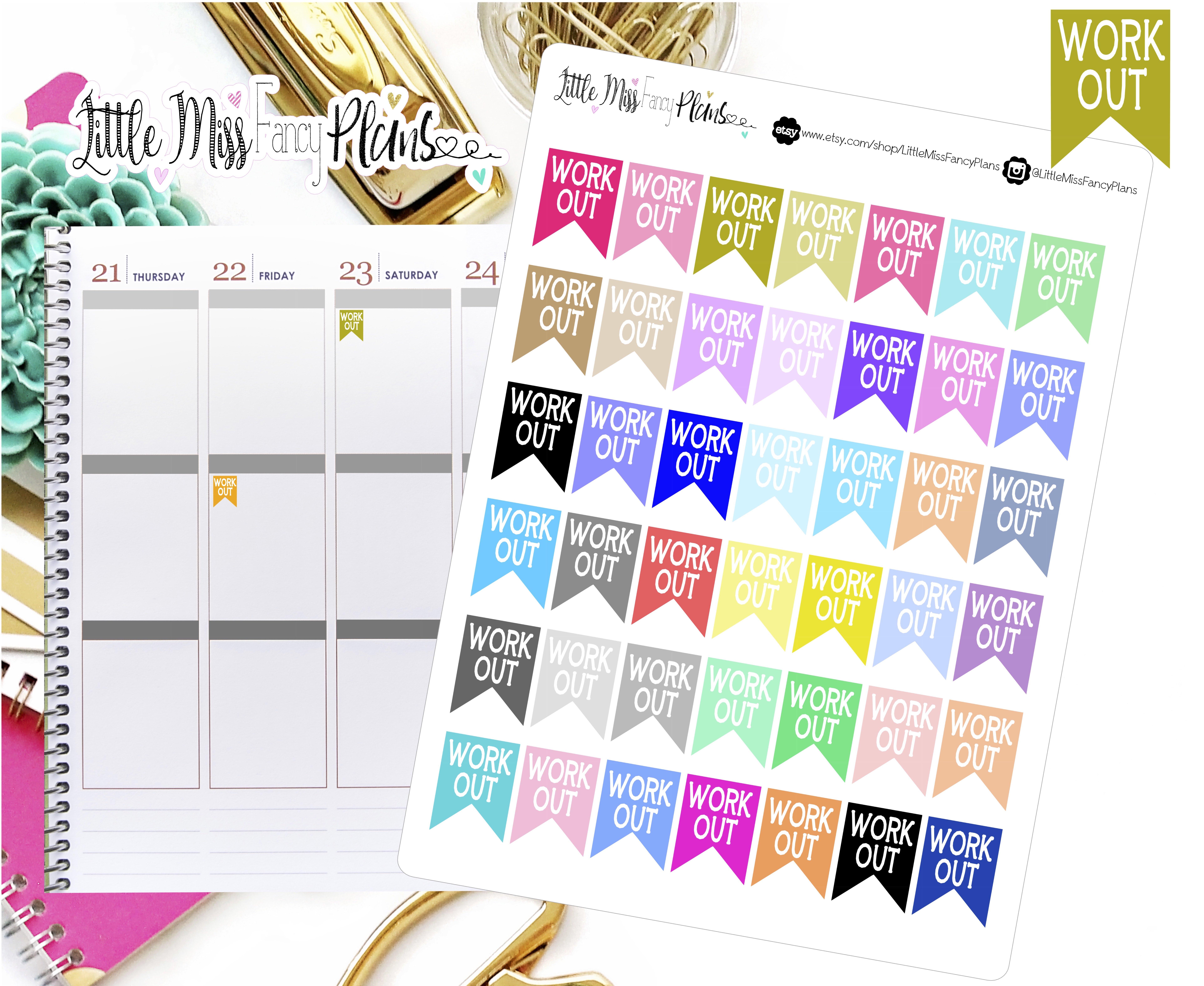 Erin Condren Agenda Calendar Happy Planner Work Planner Stickers