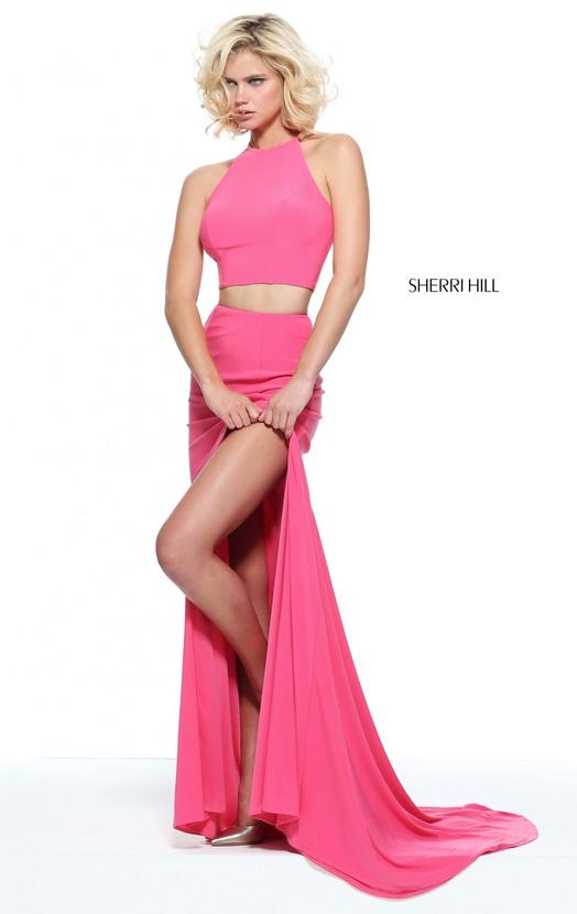 c323b92cd74 D400 Halter 2 Pieces Side Slit Long Prom Dresses