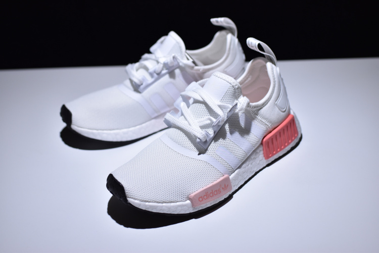dbec36b0e75e02 ... Adidas NMD R1 Boost White pink runner shoes BY9952 - Thumbnail 3
