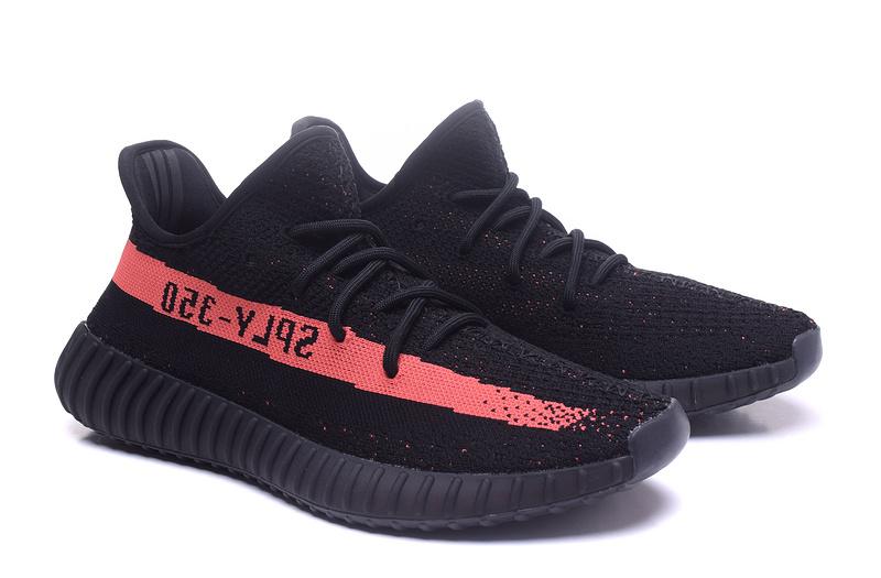 Adidas Yeezy 350 Boost V2 Black red Fashion shoes on Storenvy 45cbe88c8889