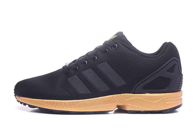 867797a41aa ... closeout fashion adidas originals zx flux black gold womens mens  sneaker thumbnail 2 e216e dcb9f