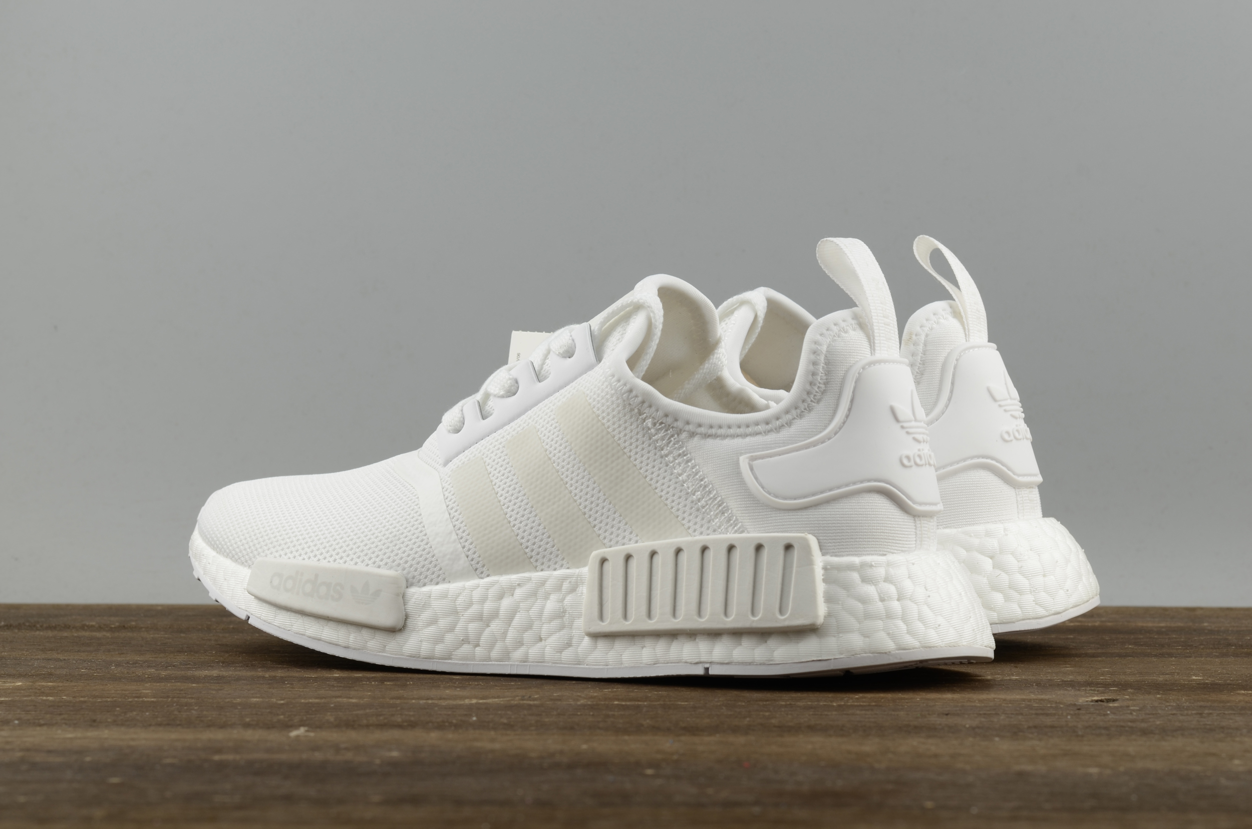 f69d8068d0aa8 Adidas NMD R1 Boost All white runner shoes · superstar · Online ...