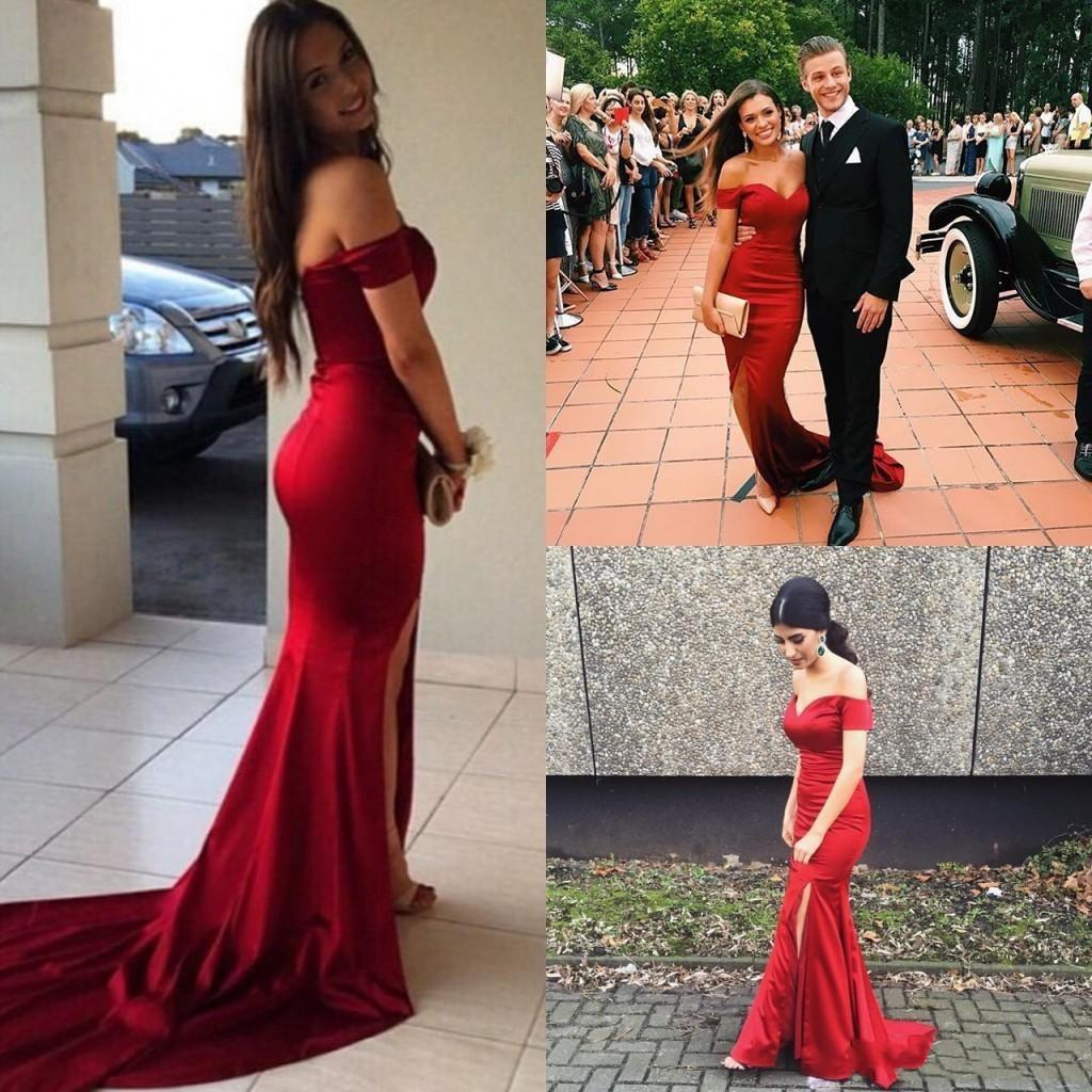 0af2684d71f2 Mermaid 20off the shoulder 20long 20red 20prom 20dresses 20evening 20party  20gowns 20119228 20(2)