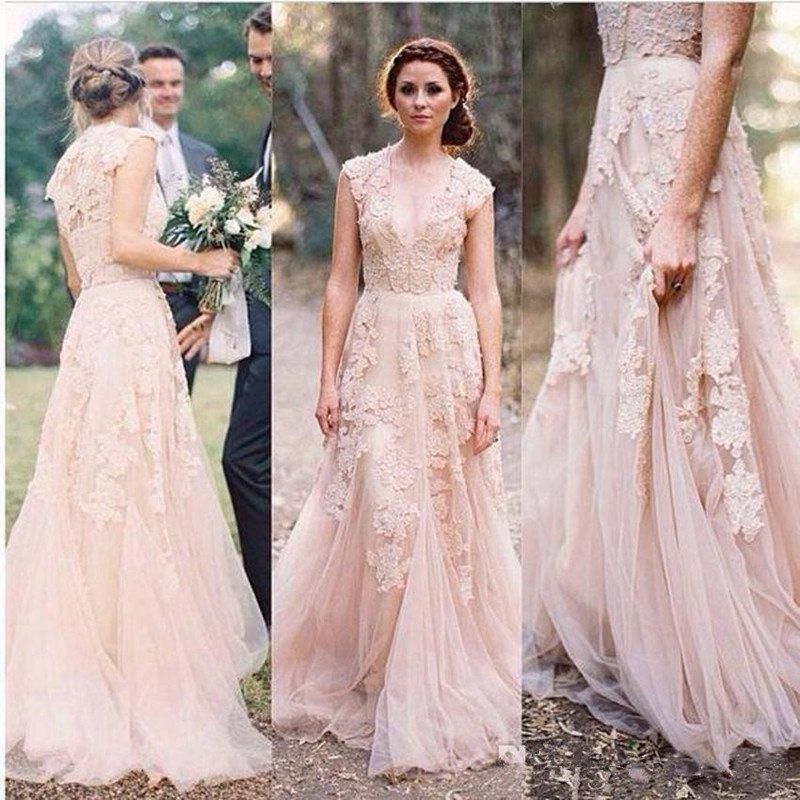 74d9adf9a07cc Wedding Lace Dress Bridesmaid Dresses,A Line Long Lace Tulle Romantic  Wedding Party Dress,Long Lace Bridesmaid Dress from Prom Dress Shop