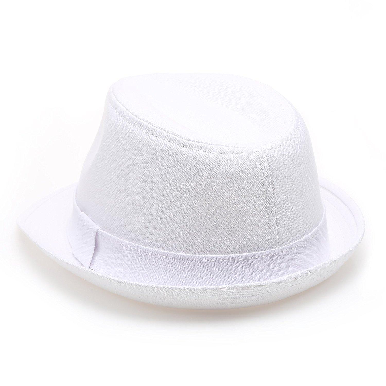 ... Classic Trilby Short Brim 100% Cotton Twill Fedora Hat with Band -  Thumbnail 2 ... 963ea8da09a