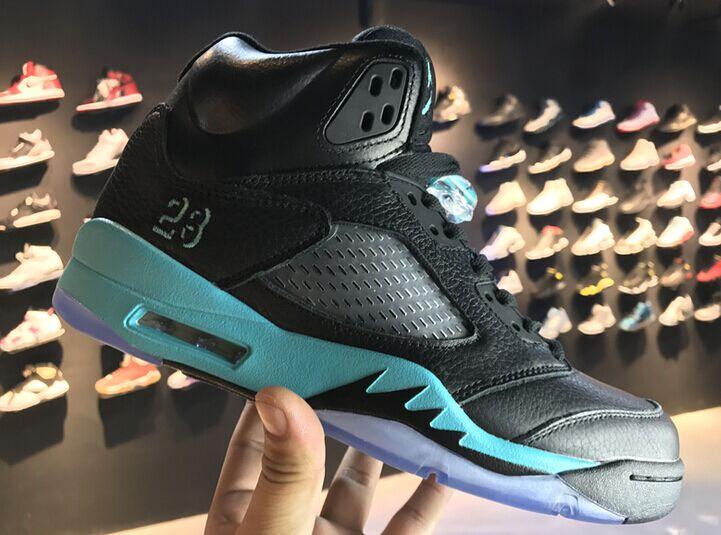 cfe3ae239471 Air Jordan 5 845035-003 black green new men shoes 8-13 on Storenvy