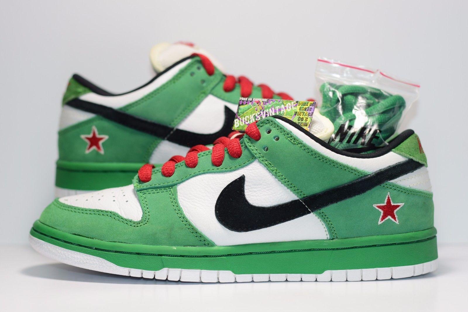 online store 1411c 46a42 Size 8 | 2003 Nike Dunk SB Low Heineken Premium Authentic Rare 304292-302  sold by BucksVintage