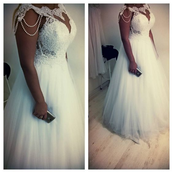 Plus Size Wedding Dress Bridal Gowns with Beaded from dressydances