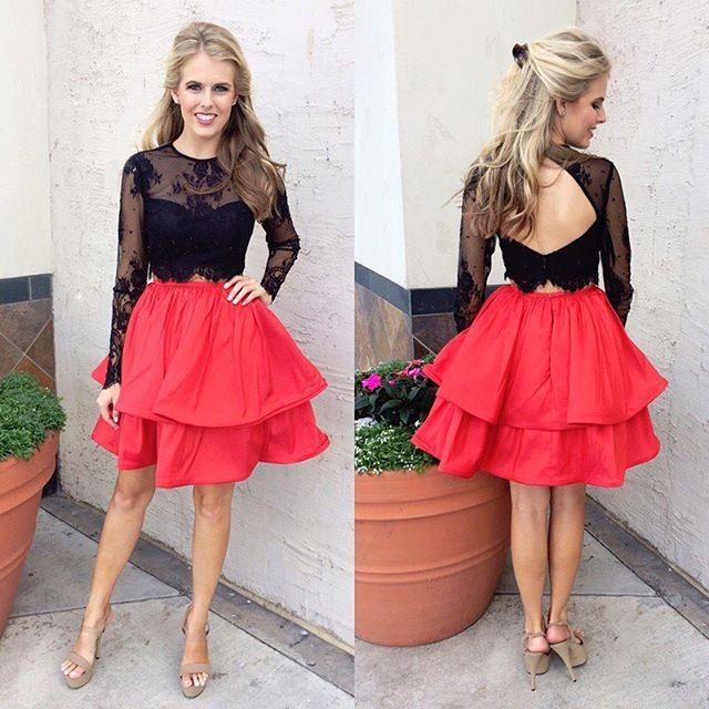 476da2a0525 2017 Short Two Piece Homecoming Dress