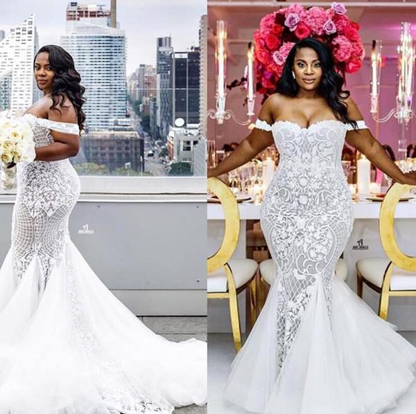 159f38ea5b86c Lace Luxurious Arabic Plus Size Wedding Dresses Sweetheart Beaded ...
