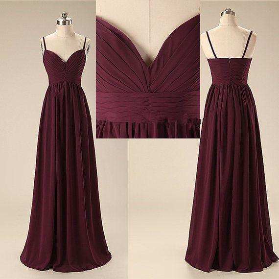 354492ca35 A9 Elegant Handmade Long Spaghetti Straps Simple Prom Dresses