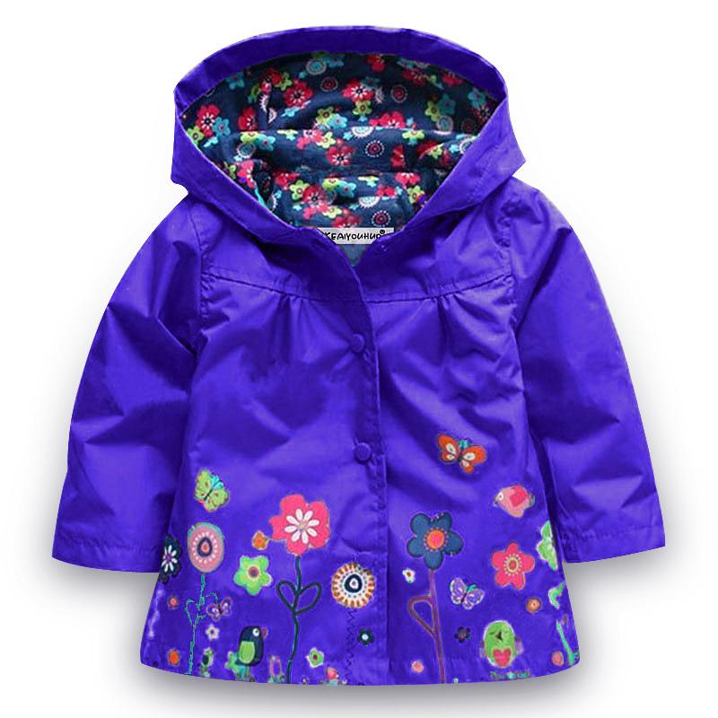 76b8ec1af Cute Kids Girls Raincoat Jacket