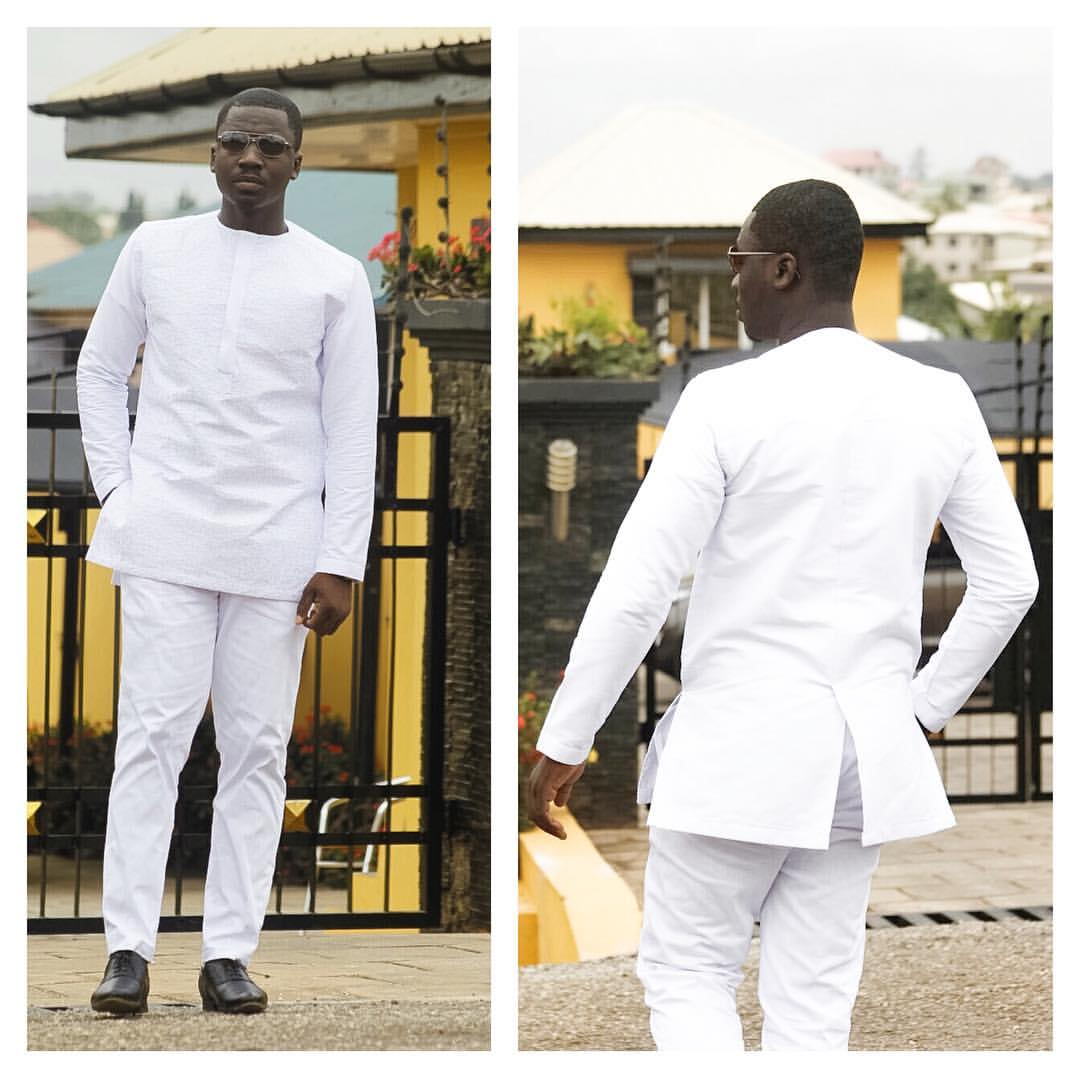 e3d03c6c6bb All White Long Sleeve Shirt and Trousers African Clothing Men s Wear ...