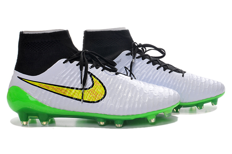 9c24f97be ... II nike magista obra fg acc Cheap Nike Magista Obra FG with ACC Green  White Black ...