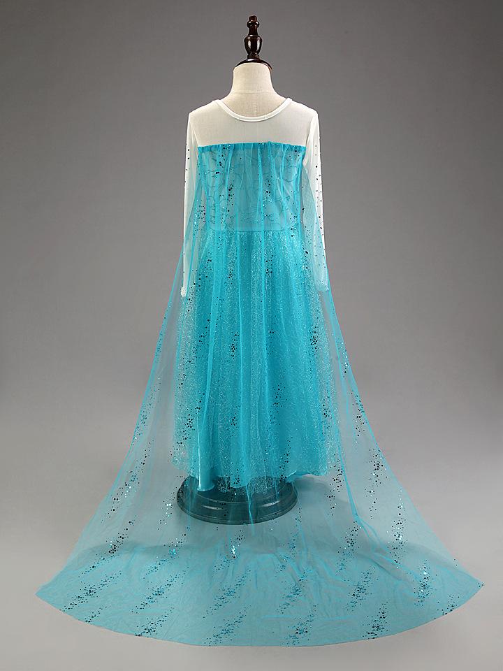 Disney Frozen Inspired Elsa Anna Costume Girl Dress, Sky Blue ...