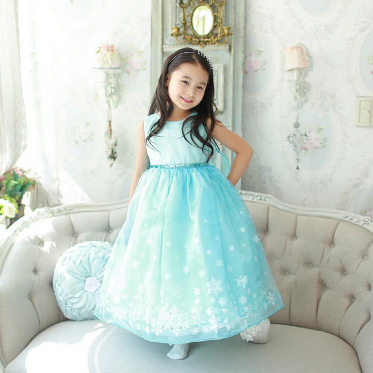 140d8fa5b9 Girls Snow Queen Costume Frozen Elsa Dress Christmas Princess Dress Up   Z0107