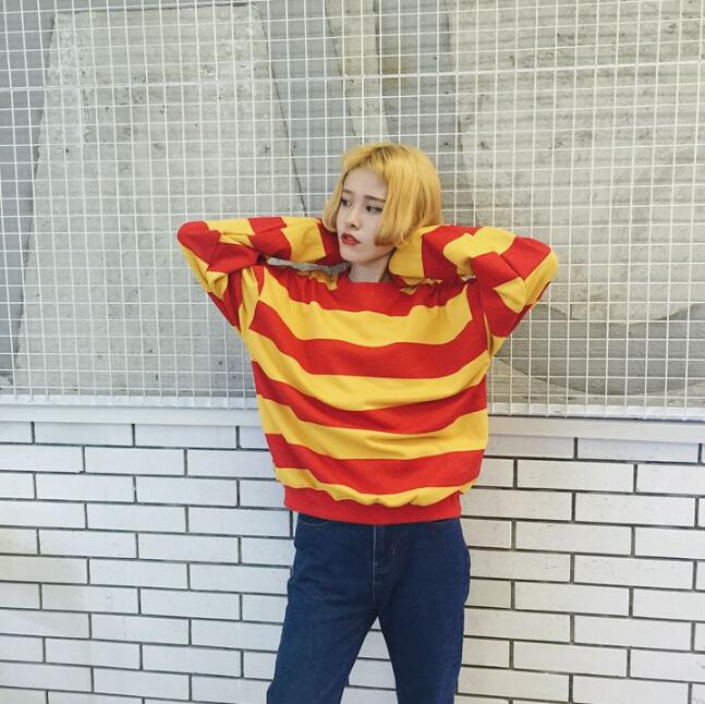 90fd418d4741 RED & YELLOW STRIPED SWEATER on Storenvy