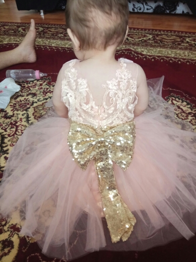 e4ca95ac787 Big Sequin Bow and tutu dress