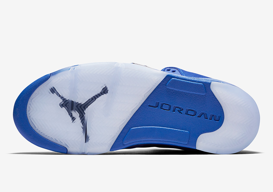 "on sale e6a4f ba04d AIR JORDAN 5 ""BLUE SUEDE"" Color: Game Royal/Black-Game Royal Style Code:  136021-401 Men8- 13 from FreshnUp"