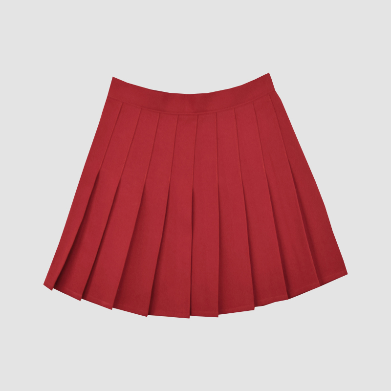 93fcb3fbced Student Solid color pleated skirt large size high waist tennis skirt ...