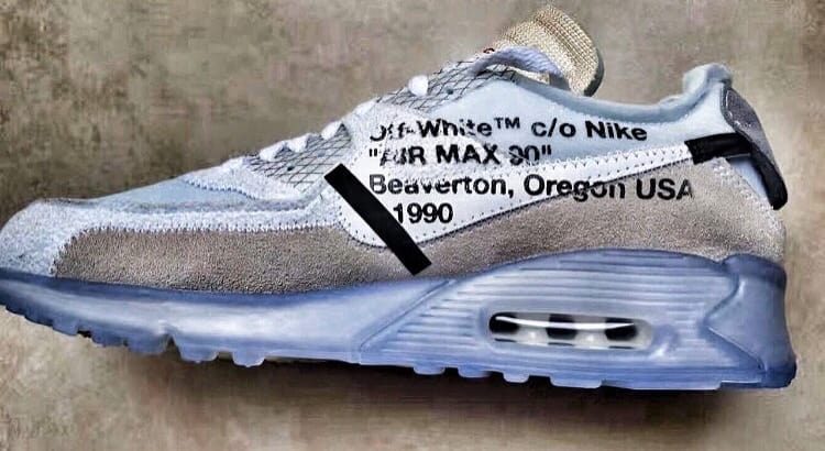 best website 932c7 5be1c OFF WHITE X NIKE AIR MAX 90 ICE Style Code AA7293-100