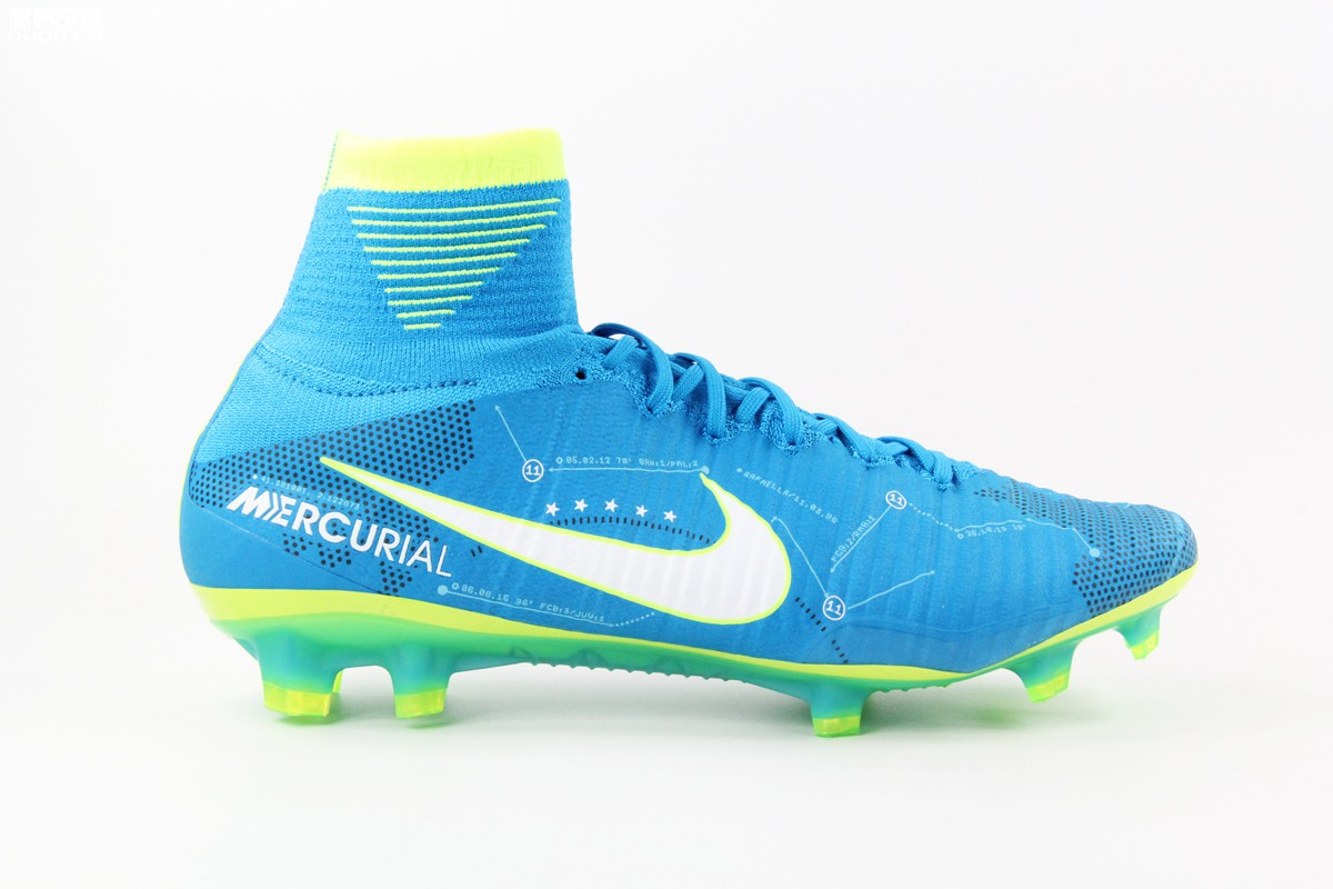 the latest b23a7 84a55 Nike Cleats Mercurial Superfly V NJR FG Blue Yellow White sold by  cleatssale4A
