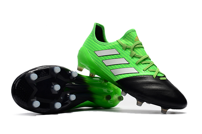 newest f847e 6e2bf Adidas Cleats adidas ACE 17.1 Leather FG Grass Green Grey Black sold by  cleatssale4A