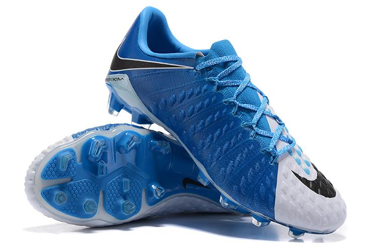 premium selection 3ebff 2d7b8 Nike Hypervenom Phantom III FG Soccer Cleats Blue White Black sold by  cleatssale4A