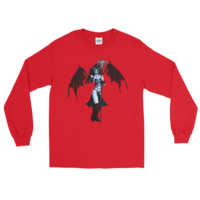 b99bf1de ... Gildan 2400 Ultra Cotton Long Sleeve T-Shirt Demon - Thumbnail 11