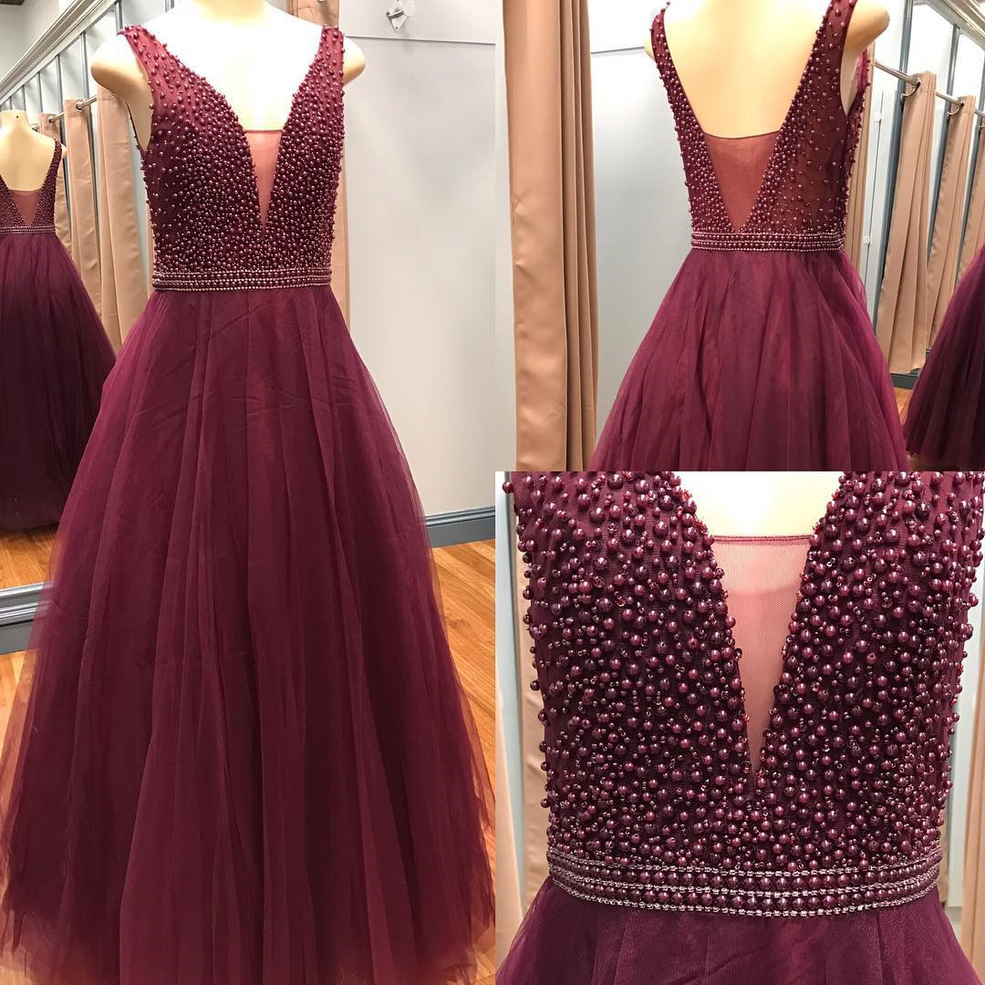 45f0627235b E388 20burgundy 20evening 20dress 2ctulle 20prom 20dress 2cpearl 20dresses  2csexy 20prom 20dresses 202017 2cball 20gown 20dresses