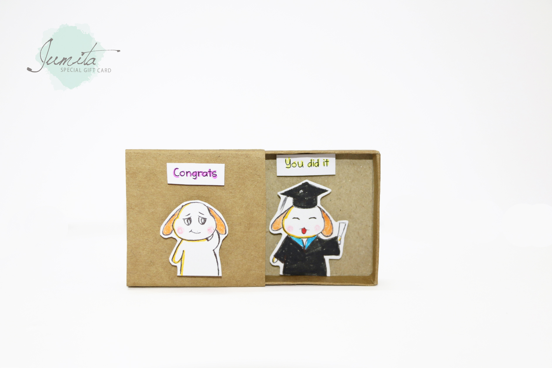 Cute Graduation Card Surprise Congratulation Matchbox Cards Gift