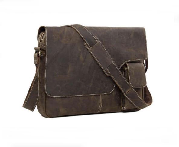 2e6b0d8a55c2 SALE Handmade Vintage Leather Mens Messenger Bag