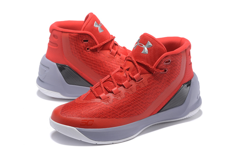 39aeea7d0b4e sneakerhead 2017 UA Stephen Curry 3 Red White Mens Basketball Shoe For Sale  on Storenvy