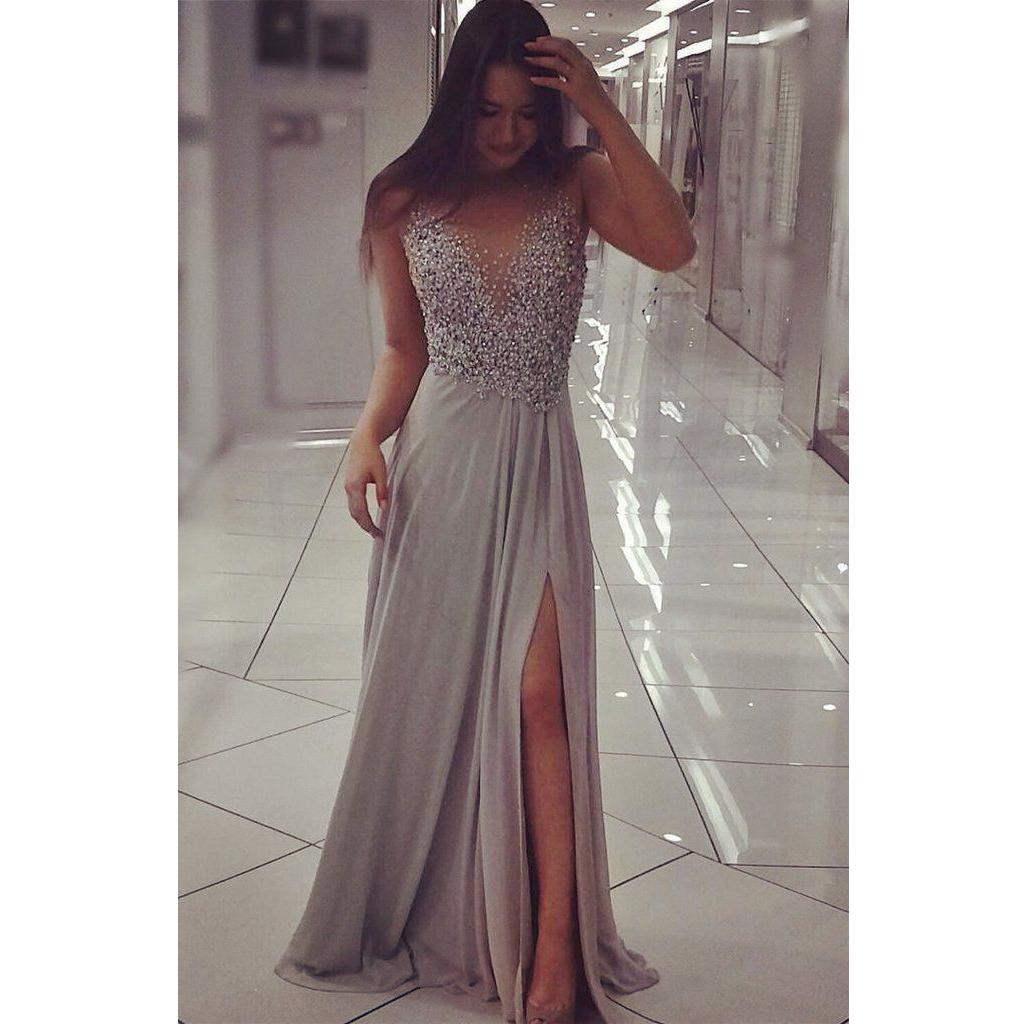 217b02d8121 Long prom dress