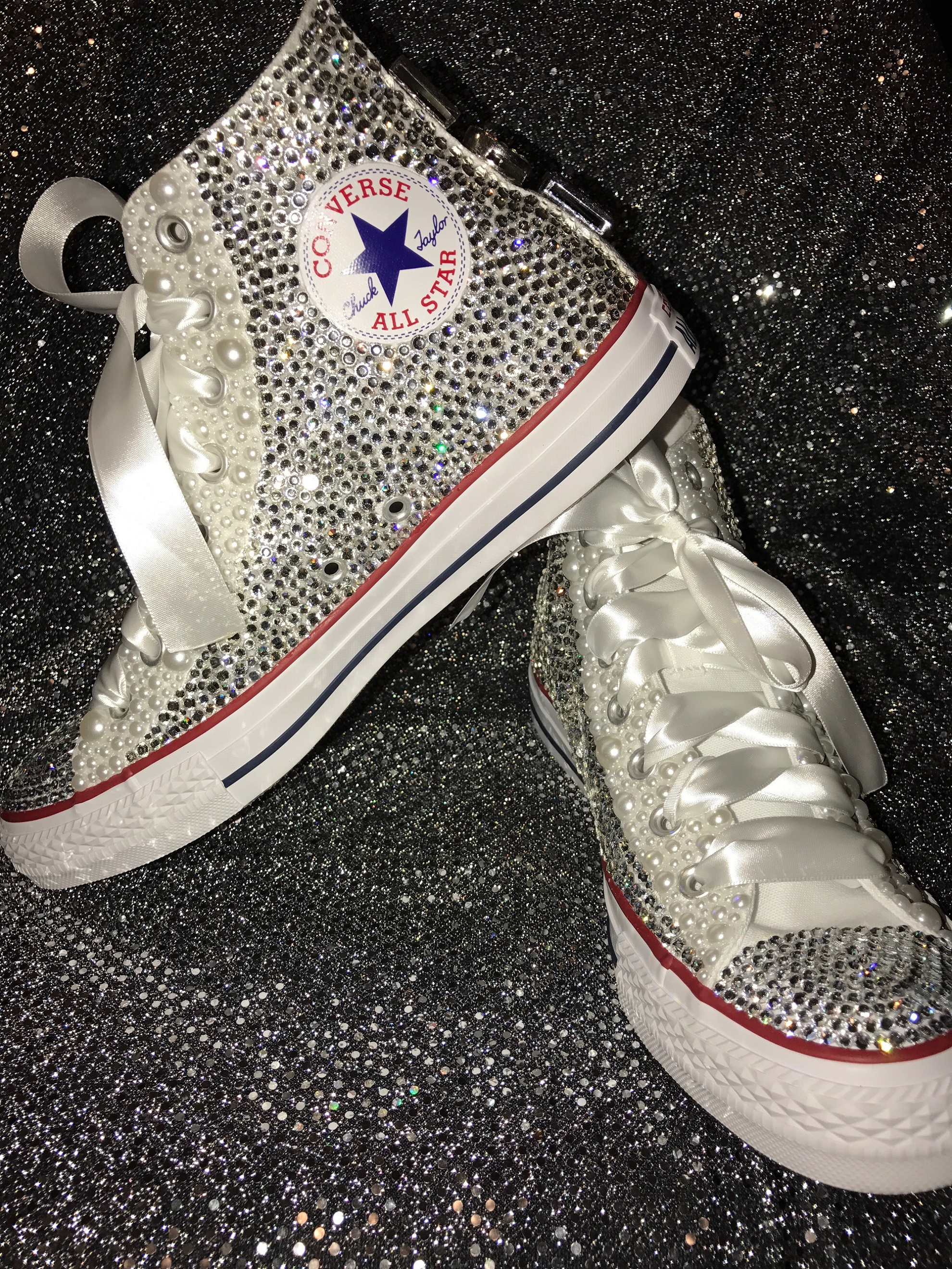 7eaa67c8b160 Adult Rhinestone Converse Shoes