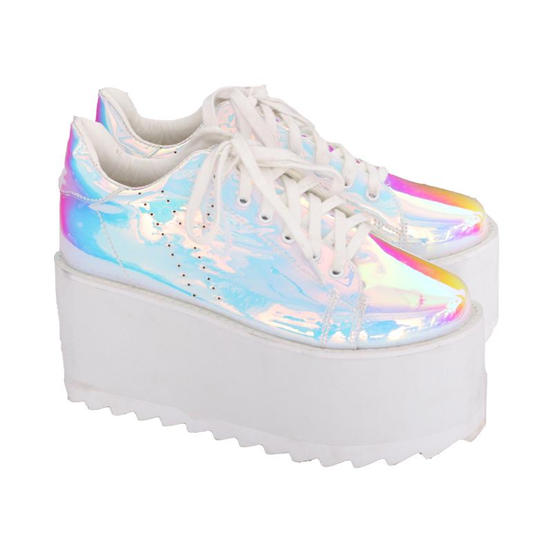 online retailer 692ed bc446 Holographic platform shoes on Storenvy