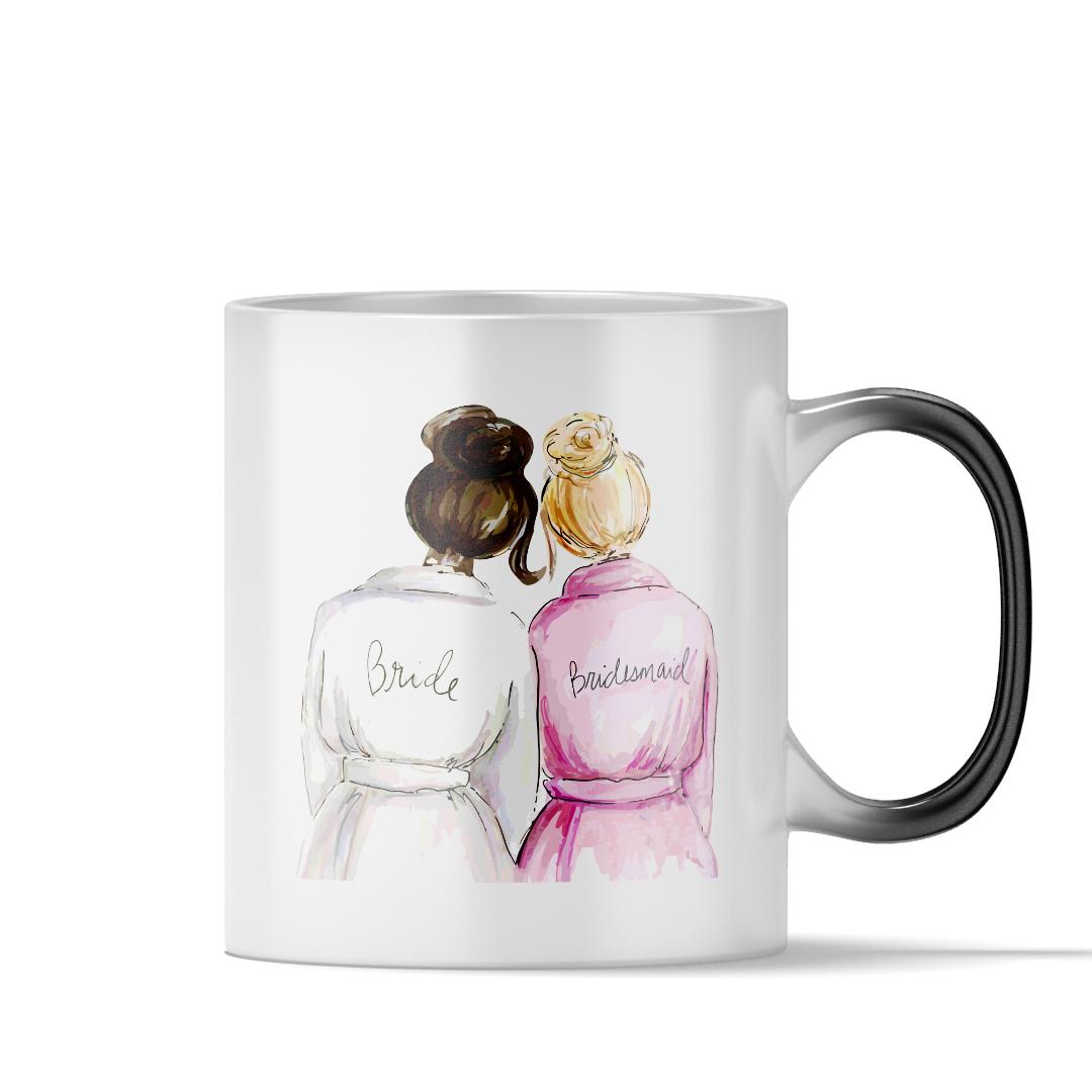 725a8b79bdcd Wedding bridal shower magic coffee mug bride and bridesmaid best cute gift  for her women girlfriend