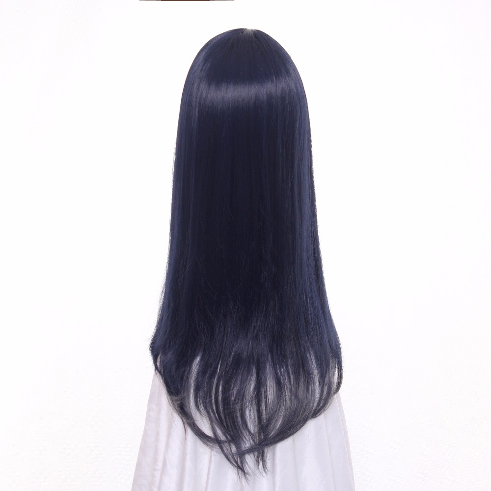 Ccutoo 60cm blue grey mix side parting styled synthetic hair wig heat  resistance cosplay wig women 4ff73f0994