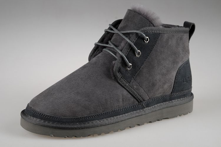 f57ed41b713 2017 new men's UGG sheepskin fur snow boots grey from supplier