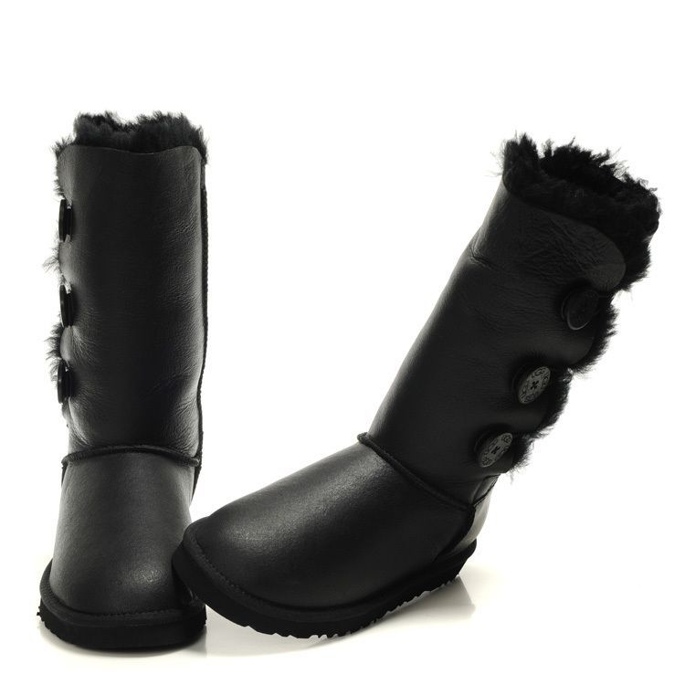 e9b7f4e7be4 Women's fashion ugg sheepskin fur patent leather tube snow boots black from  supplier