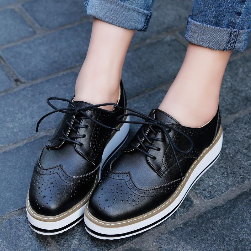 Black Lace up Platform Oxford Shoes on Storenvy ed212e0f0