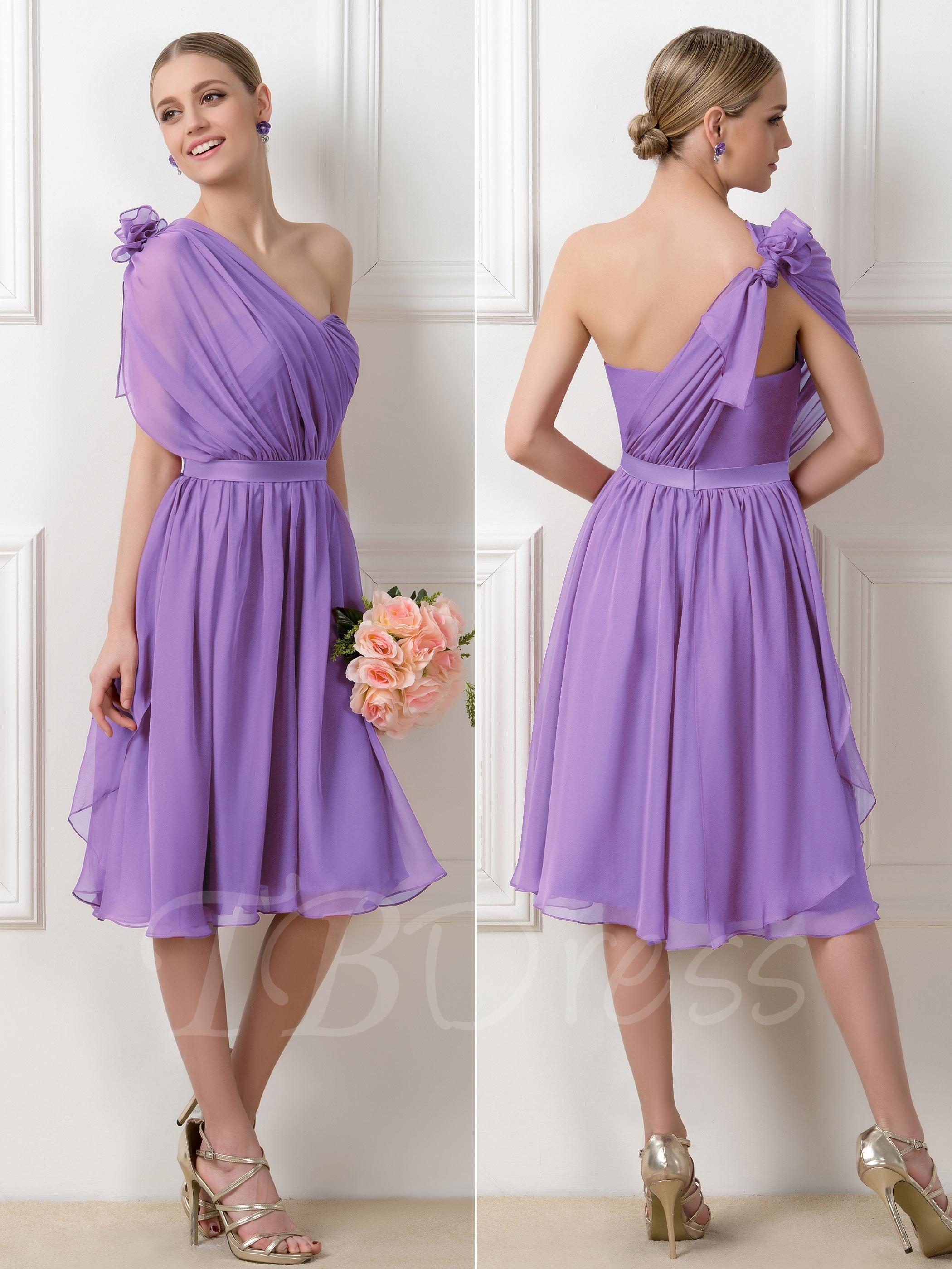 2f863b7727a0 W248 Romantic Purple Convertible A-Line Knee-Length Short Bridesmaid Dress