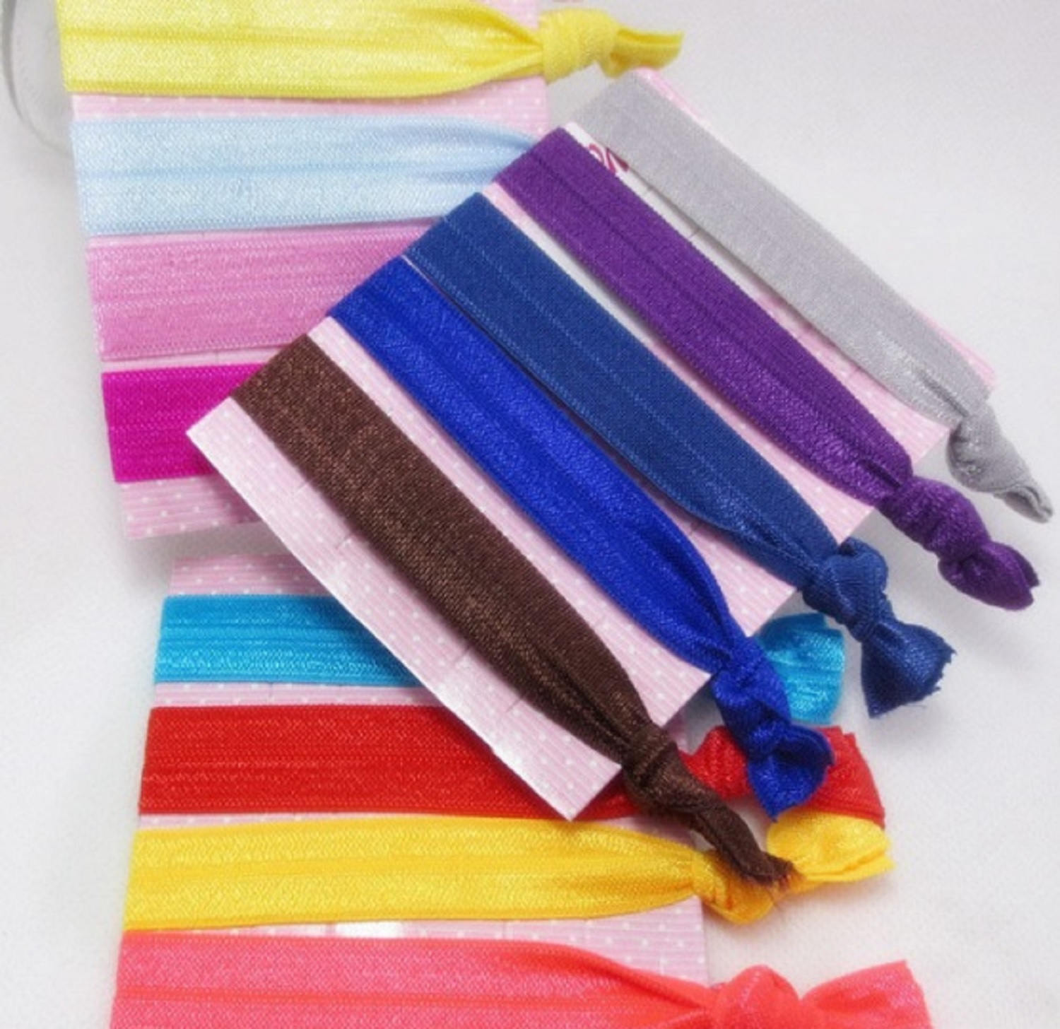 ... 100 Elastic Hair Ties You Pick Your Colors No Crease Bands Hand Knotted  Ponytail Holder Teen ... 7954c1da5d2