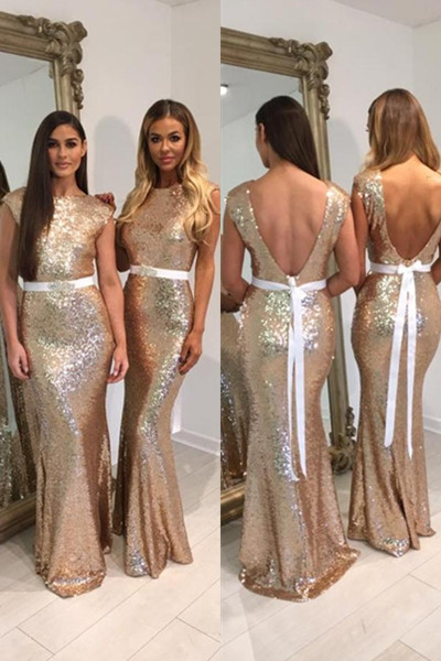 Bridesmaid Dresses, 2018 Gold Sequins Bridesmaid Dresses,Mermaid Bridesmaid  Dress,Gold Wedding Party Dresses, Plus Size Bridesmaid Dresses 2018 from ...