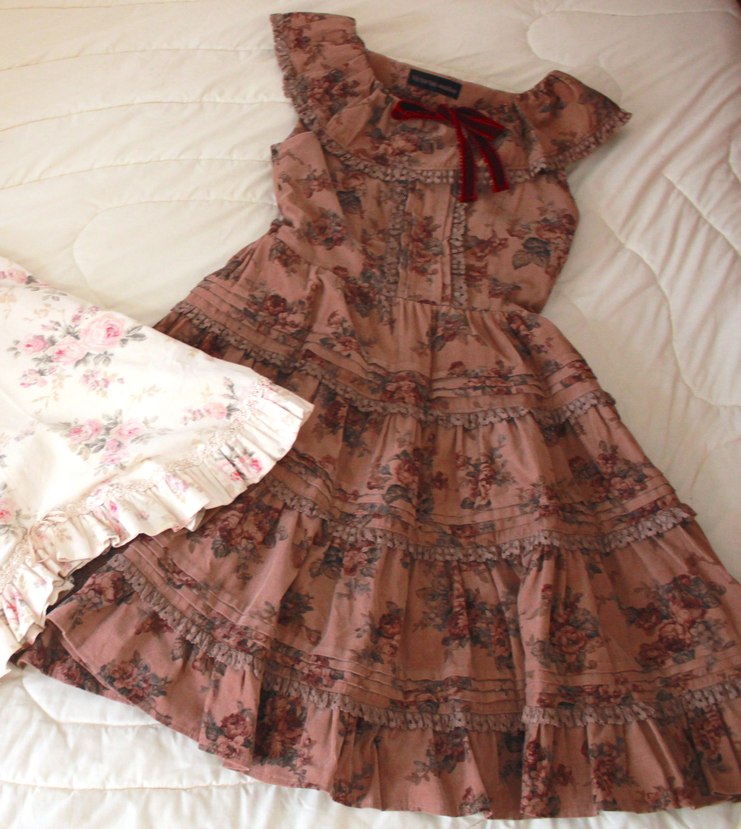 36a6de88098 Victorian Maiden Rare Corduroy Flower Dress on Storenvy