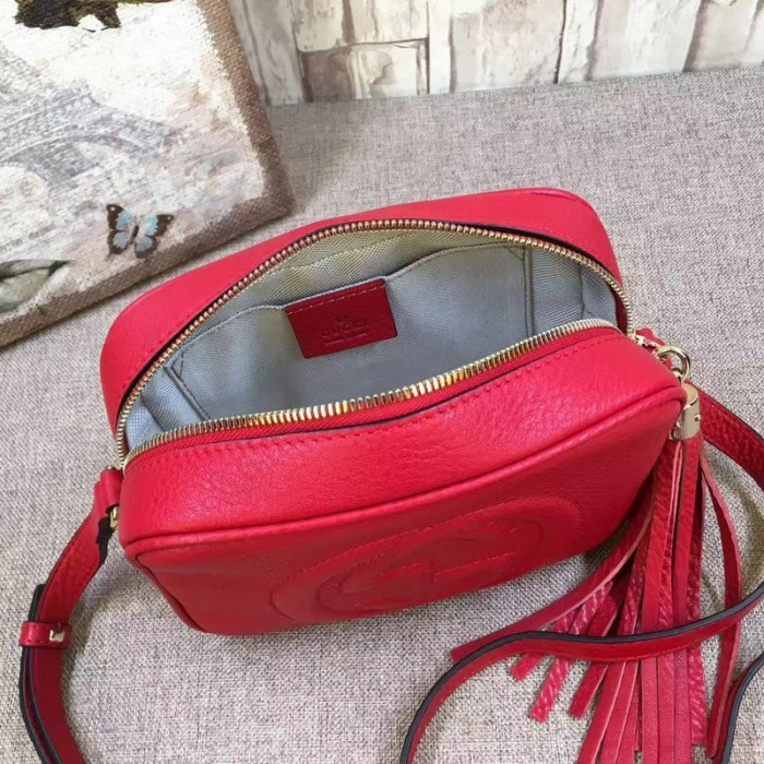 856d48e76bf6b 308364 red 07 700x700 small · Gucci pebbled calfskin small soho disco bag  ...